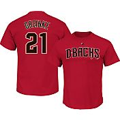 Majestic Men's Arizona Diamondbacks Zack Greinke #21 Red T-Shirt