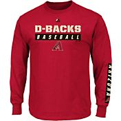 Majestic Men's Arizona Diamondbacks Proven Pastime Red Long Sleeve Shirt
