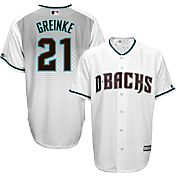 Majestic Men's Replica Arizona Diamondbacks Zack Greinke #21 Cool Base Alternate Home White Jersey