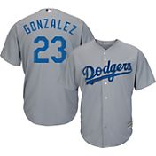 Majestic Men's Replica Los Angeles Dodgers Adrian Gonzalez #23 Cool Base Alternate Road Grey Jersey