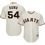 Majestic Men's Replica San Francisco Giants Sergio Romo #54 Cool Base Home Ivory Jersey
