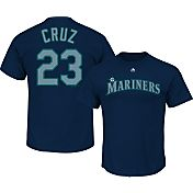 Majestic Triple Peak Men's Seattle Mariners Nelson Cruz Navy T-Shirt
