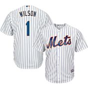 Majestic Men's Replica New York Mets Mookie Wilson #1 Cool Base Home White Jersey