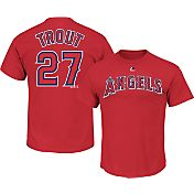 Majestic Men's Los Angeles Angels Mike Trout #27 Red T-Shirt