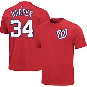 Majestic Triple Peak Men's Washington Nationals Bryce Harper Red T-Shirt