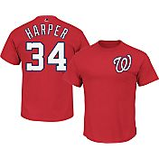 Majestic Men's Washington Nationals Bryce Harper #34 Red T-Shirt