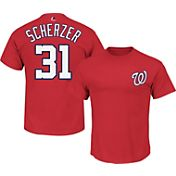 Majestic Triple Peak Men's Washington Nationals Max Scherzer Red T-Shirt