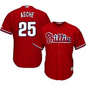 Majestic Men's Replica Philadelphia Phillies Cody Asche #25 Cool Base Alternate Red Jersey