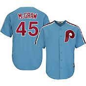 Majestic Men's Replica Philadelphia Phillies Tug McGraw Cool Base Light Blue Cooperstown Jersey