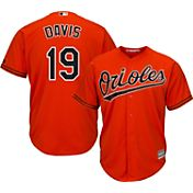 Majestic Men's Replica Baltimore Orioles Chris Davis #19 Cool Base Alternate Orange Jersey