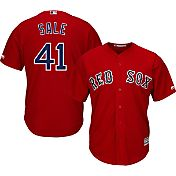 Majestic Men's Replica Boston Red Sox Chris Sale #41 Cool Base Alternate Red Jersey