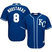 Majestic Men's Replica Kansas City Royals Mike Moustakas #8 Cool Base Alternate Royal Jersey