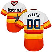 Majestic Men's Full Roster Cool Base Cooperstown Replica Houston Astros 1986 Rainbow Jersey