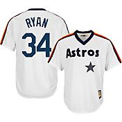 Majestic Men's Replica Houston Astros Nolan Ryan Cool Base White Cooperstown Jersey