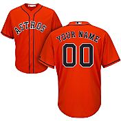 Majestic Men's Custom Cool Base Replica Houston Astros Alternate Orange Jersey