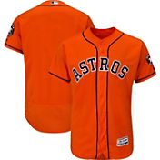 Majestic Men's Authentic Houston Astros Alternate Orange Flex Base On-Field Jersey