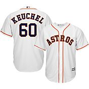 Majestic Men's Replica Houston Astros Dallas Keuchel #60 Cool Base Home White Jersey