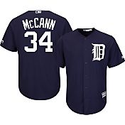 Majestic Men's Replica Detroit Tigers James McCann #34 Cool Base Alternate Navy Jersey