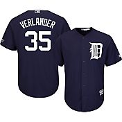 Majestic Men's Replica Detroit Tigers Justin Verlander #35 Cool Base Alternate Navy Jersey