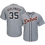 Majestic Men's Replica Detroit Tigers Justin Verlander #35 Cool Base Road Grey Jersey