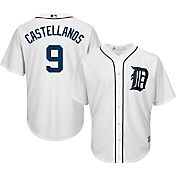 Majestic Men's Replica Detroit Tigers Nick Castellanos #9 Cool Base Home White Jersey