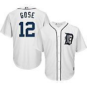 Majestic Men's Replica Detroit Tigers Anthony Gose #12 Cool Base Home White Jersey