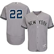 Majestic Men's Authentic New York Yankees Jacoby Ellsbury #22 Road Grey Flex Base On-Field Jersey