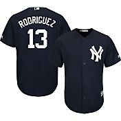 Majestic Men's Replica New York Yankees Alex Rodriguez #13 Cool Base Alternate Navy Jersey