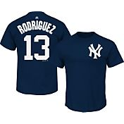 Majestic Men's New York Yankees Alex Rodriguez #13 Navy T-Shirt