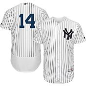 Majestic Men's Authentic New York Yankees Starlin Castro #14 Home White Flex Base On-Field Jersey