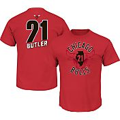 Majestic Men's Chicago Bulls Jimmy Butler #21 Red T-Shirt