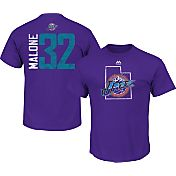 Majestic Men's Utah Jazz Karl Malone #32 Purple T-Shirt