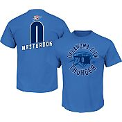 Majestic Men's Oklahoma City Thunder Russell Westbrook #0 Blue T-Shirt