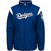 Majestic Women's Los Angeles Dodgers Therma Base Royal On-Field Premier Jacket