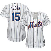 Majestic Women's Replica New York Mets Tim Tebow #15 Cool Base Home White Jersey