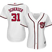 Majestic Women's Replica Washington Nationals Max Scherzer #31 Cool Base Home White Jersey
