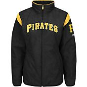 Majestic Women's Pittsburgh Pirates Therma Base Black On-Field Premier Jacket
