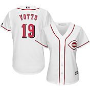 Majestic Women's Replica Cincinnati Reds Joey Votto #19 Cool Base Home White Jersey