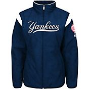 Majestic Women's New York Yankees Therma Base Navy On-Field Premier Jacket