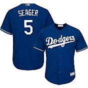 Majestic Youth Replica Los Angeles Dodgers Corey Seager #5 Cool Base Alternate Royal Jersey