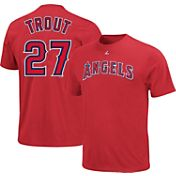 Majestic Youth Los Angeles Angels Mike Trout #27 Red T-Shirt