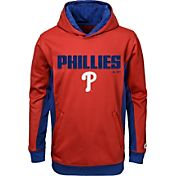 Majestic Youth Philadelphia Phillies Geo Strike Red Hoodie