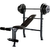 Marcy Mid-Width Bench and 100 lbs. Weight Set