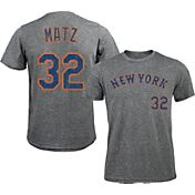 Majestic Threads Men's New York Mets Steven Matz #32 Grey Tri-Blend T-Shirt