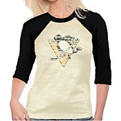 Majestic Threads Women's Pittsburgh Penguins Three-Quarter Raglan Sleeve T-Shirt