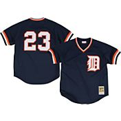 Mitchell & Ness Men's Replica Detroit Tigers Kirk Gibson Navy Cooperstown Batting Practice Jersey