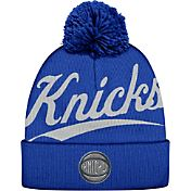 Mitchell & Ness Men's New York Knicks Script Royal Knit Hat