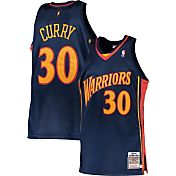 Mitchell & Ness Men's 2009-10 Golden State Warriors Steph Curry #30 Navy Hardwood Classics Rookie Season Authentic Jersey