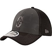 New Era Men's Seattle Mariners 39Thirty Grey/Black Shadow Reflect Flex Hat