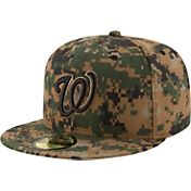 New Era Men's Washington Nationals 59Fifty 2016 Memorial Day Authentic Hat